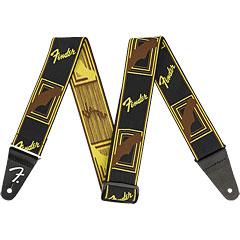 """Fender Mono Weightless 2"""" Black/Yellow/Brown « Schouderband"""