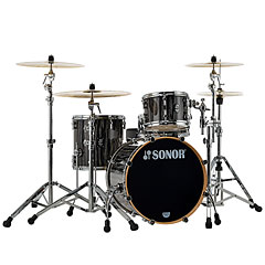 "Sonor ProLite 20"" Ebony White Stripes 3 Pcs. Shell Set « Schlagzeug"