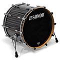 "Schlagzeug Sonor ProLite 22"" Ebony White Stripes 3 Pcs. Shell Set"
