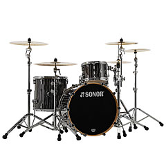 "Sonor ProLite 22"" Ebony White Stripes 3 Pcs. Shell Set « Schlagzeug"
