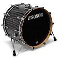 """Batterie acoustique Sonor ProLite 20"""" Ebony White Stripes 3 Pcs. Shell Set With Mount"""