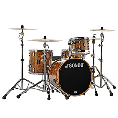 "Sonor ProLite 20"" Chocolate Burl 3 Pcs. Shell Set With Mount « Schlagzeug"