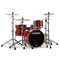 "Sonor ProLite 20"" Fiery Red 3 Pcs. Shell Set With Mount « Batería"
