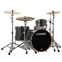 "Sonor ProLite 22"" Ebony White Stripes 3 Pcs. Shell Set With Mount « Batterie acoustique"