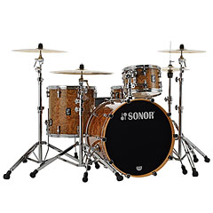 "Sonor ProLite 22"" Chocolate Burl 3 Pcs. Shell Set With Mount « Batería"