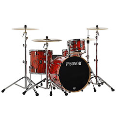 "Sonor ProLite 22"" Fiery Red 3 Pcs. Shell Set With Mount « Schlagzeug"