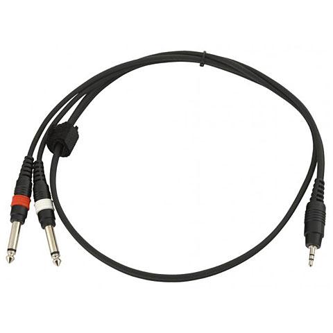 Câble Y Klang Jack plug mini stereo - 2x jack plug 1m
