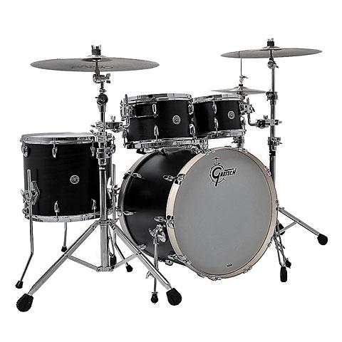 "Batería Gretsch Drums USA Brooklyn 22"" Satin Black Metallic Drumset"