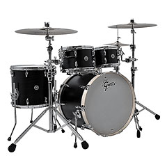 "Gretsch Drums USA Brooklyn 22"" Satin Black Metallic Drumset « Drumstel"