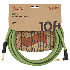 Fender Festival Hemp Green 3 m « Instrument Cable