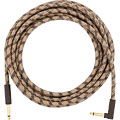 Instrumentenkabel Fender Festival Hemp Brown Stripe 5,5 m