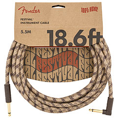 Fender Festival Hemp Brown Stripe 5,5 m « Instrumentenkabel