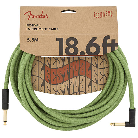 Câble pour instrument Fender Festival Hemp Green 5,5 m