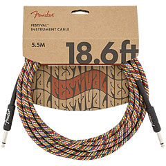 Fender Festival Hemp Rainbow 5,5 m « Instrument Cable