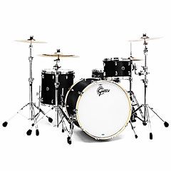 "Gretsch Drums USA Brooklyn 22"" Satin Black Metallic 3 Pcs. Shell Set « Drum Kit"