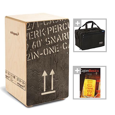 Cajon Schlagwerk CP404BLK 2inOne Black Edition Bundle