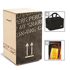 Schlagwerk CP404BLK 2inOne Black Edition Bundle « Cajón flamenco