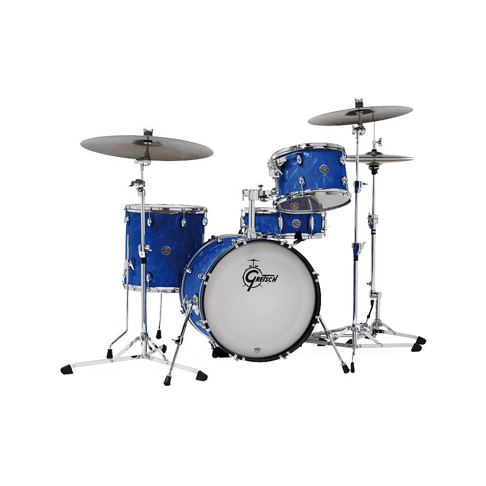 Akustikdrums - Gretsch Drums Catalina Club 18 Blue Satin Flame Shellset Schlagzeug - Onlineshop Musik Produktiv