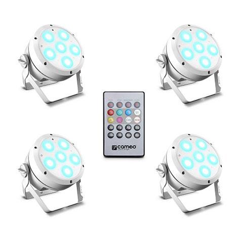 Lámpara LED Cameo ROOT PAR 6 WH Set 1