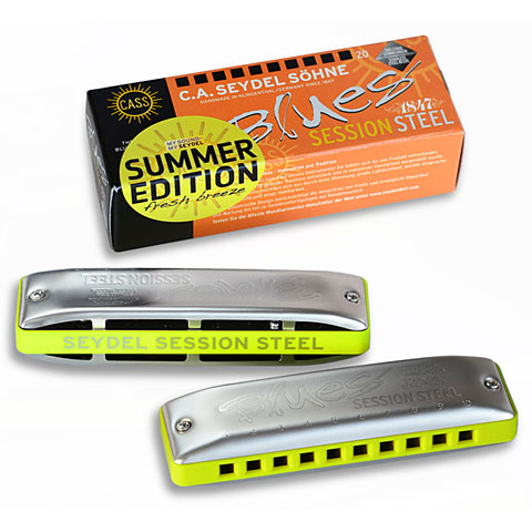 Harmonica Richter C.A. Seydel Söhne Blues Session Steel Summer Edition 2020 F