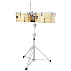 "Latin Percussion Prestige Solid Brass 13""/14"" « Timbales"