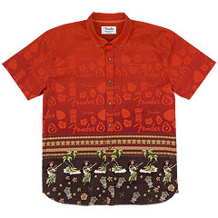 Fender The Hawaiian Buttom Up Shirt XXL « T-Shirt