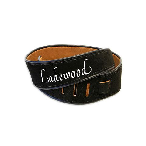 Gitarrengurt Lakewood Wildleder Black