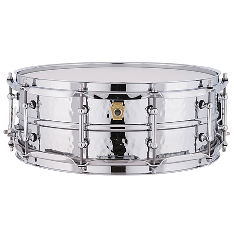 """Snare Drum Ludwig Supraphonic LM400KT Hammered 14"""" x 5"""" Snare Drum"""