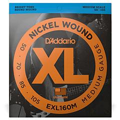 D'Addario EXL160M Nickel Wound .050-105 « Corde basse électrique