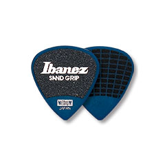 Ibanez Grip Wizard PPA16HS-DB Sand Flat Pick 6 Pack 1mm Blue « Médiators
