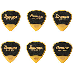 Ibanez Flat Pick Sand Grip Yellow 0,8 mm « Plectrum