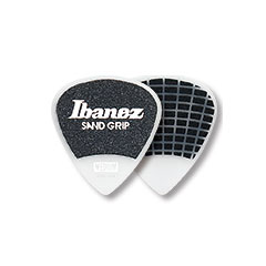 Ibanez Flat Pick PPA16HSG-WH Sand Grip White 1 mm Heavy « Médiators