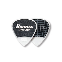 Ibanez Flat Pick PPA16MSG-WH Sand Grip White 0,8 mm Heavy « Médiators