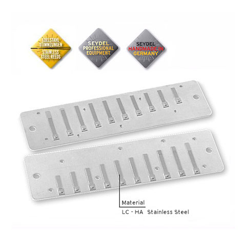 Stimmplatte C.A. Seydel Söhne Reed Plates for Session Steel/Standard in Low Db