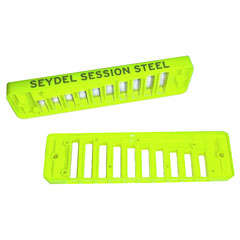 C.A. Seydel Söhne Comb Plastic Blues Session Steel - Luminous Yellow « Ersatzteil Mundharmonika