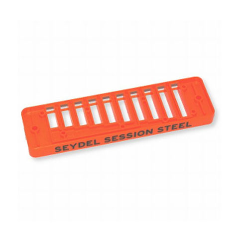 Pieza de recambio de armónica C.A. Seydel Söhne Comb Plastic Blues Session Steel - Orange