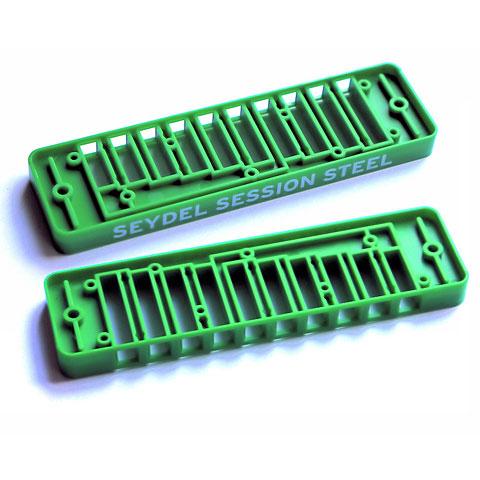 Ersatzteil Mundharmonika C.A. Seydel Söhne Comb Plastic Blues Session Steel - Green