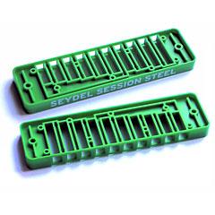 C.A. Seydel Söhne Comb Plastic Blues Session Steel - Green « Pieza de recambio de armónica