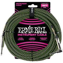 Ernie Ball Gewebekabel EB6082 6m schwarz/grün « Instrumentenkabel