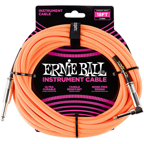 Câble pour instrument Ernie Ball Gewebekabel EB6084 6m Neon Orange