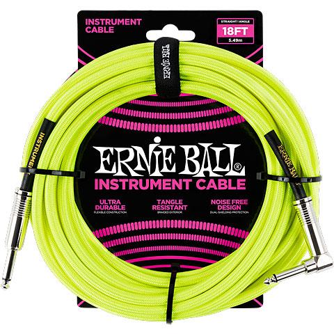 Cable instrumentos Ernie Ball EB6085 Neon Yellow 5,5 m