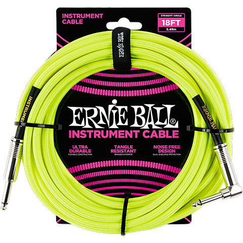 Câble pour instrument Ernie Ball Gewebekabel EB6085 6m Neon Yellow