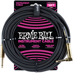 Ernie Ball Gewebekabel EB6086 6m Black « Cable instrumentos