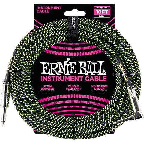 Cable instrumentos Ernie Ball EB6077 Black/Green 3,0 m