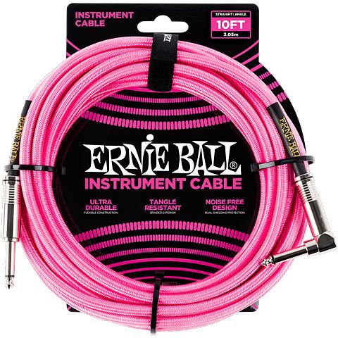 Cable instrumentos Ernie Ball EB6078 Neon Pink 3,0 m