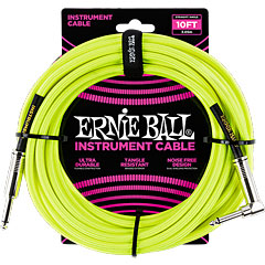 Ernie Ball Gewebekabel EB6080 3m Neon Yellow « Cable instrumentos
