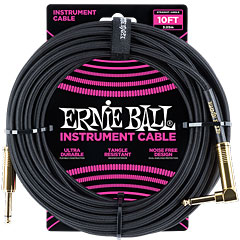 Ernie Ball Gewebekabel EB6081 3m Black « Cable instrumentos