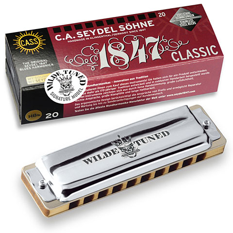 Richter-Mundharmonika C.A. Seydel Söhne Blues 1847 Classic - Wilde Rock Tuning D