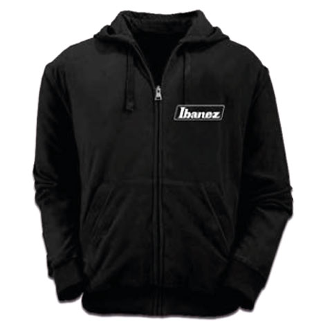 Hood Zip Ibanez Black Logo XL