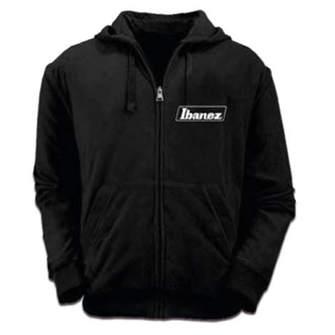 Hood Zip Ibanez Black Logo M